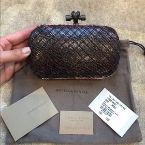 NWT Bottega Veneta Karung Knot Clutch Bag